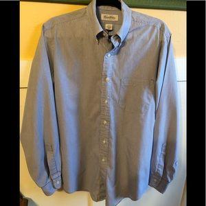 Men's Brooks Brothers blue pin stripe shirt 16-35